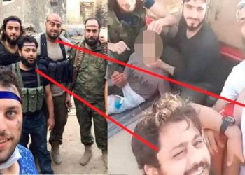 Fotógrafo que retrató a niño sirio habría posado con terroristas que decapitaron a otro niño palestino