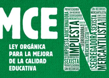 """Izquierda Unida advierte de que el pacto Ciudadanos-PP """"apuntala la LOMCE en contra de las demandas de la comunidad educativa"""""""