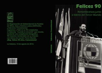 Organización solidaria tricontinental honra a Fidel Castro en Cuba