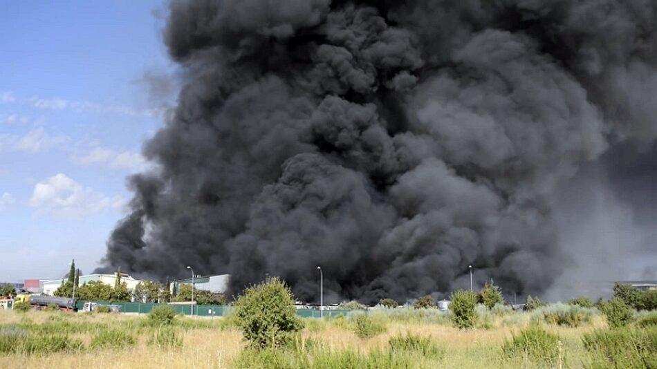 Altos niveles de partículas en el sur de Soria por la nube tóxica de Chiloeches