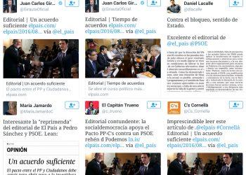Nueva hinchada para los editoriales de El País
