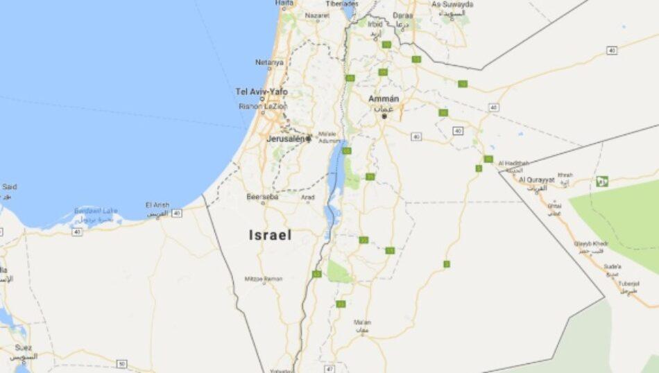 Google eliminó a Palestina del mapa y lo reemplazó por Israel