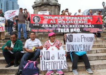 México: Seguirá protesta si no cae la reforma educativa, dice la CNTE