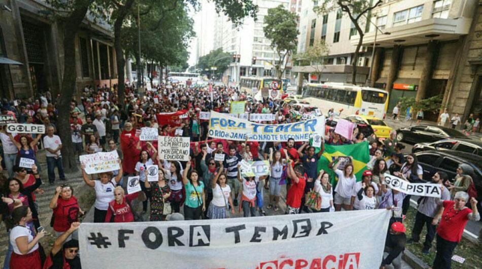 Brasileños marchan contra Temer en vísperas de JJ.OO.