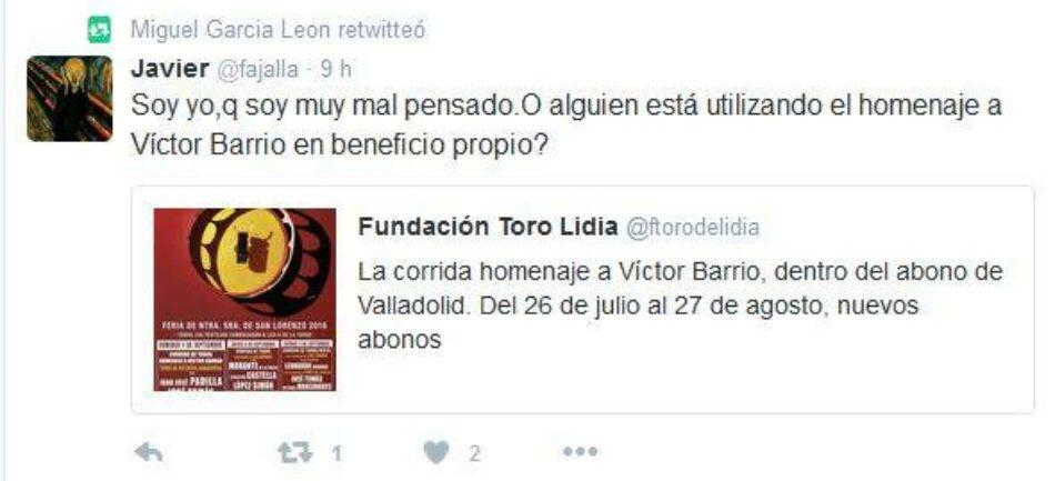 Plataforma la Tortura No es Cultura:  «La tauromafia se lucra con la muerte de Víctor Barrio»