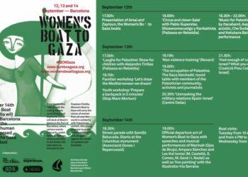 Barcelona prepara los actos de salida de la flotilla de Mujeres Rumbo a Gaza