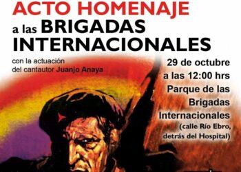 Organizan acto en Móstoles homenaje a las Brigadas Internacionales