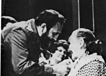María Araúxo gallega medalla «Orden Ana Betancourt» en Cuba