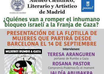 Presentación en Ateneo de Madrid de pasajera de Mujeres Rumbo a Gaza