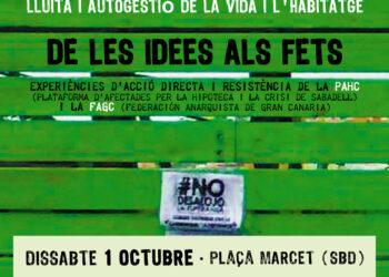 """La FAGC, impulsora de la comunitat ocupada """"La Esperanza"""" participarà a una jornada sobre l'autogestió de l'habitatge a Sabadell"""