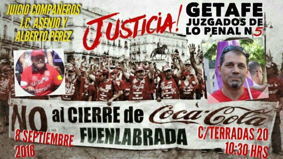 Podemos apoyará en Getafe a los trabajadores de Coca Cola