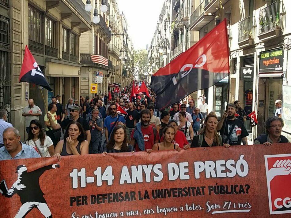 La CGT-PV es solidaritza amb el secretari general de CGT-Catalunya a qui la Fiscalia demana 11 anys de presó