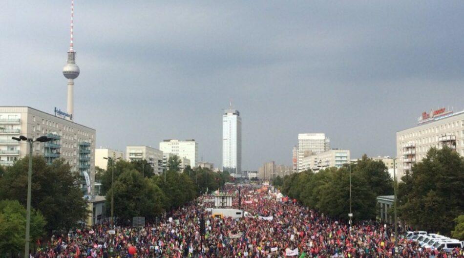 Multitudinarias marchas en Alemania contra los tratados de libre comercio