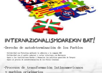 Internazionalismoarekin bat!: campaña introduce internacionalismo en las elecciones vascas y pide apoyo a Cuba y Venezuela