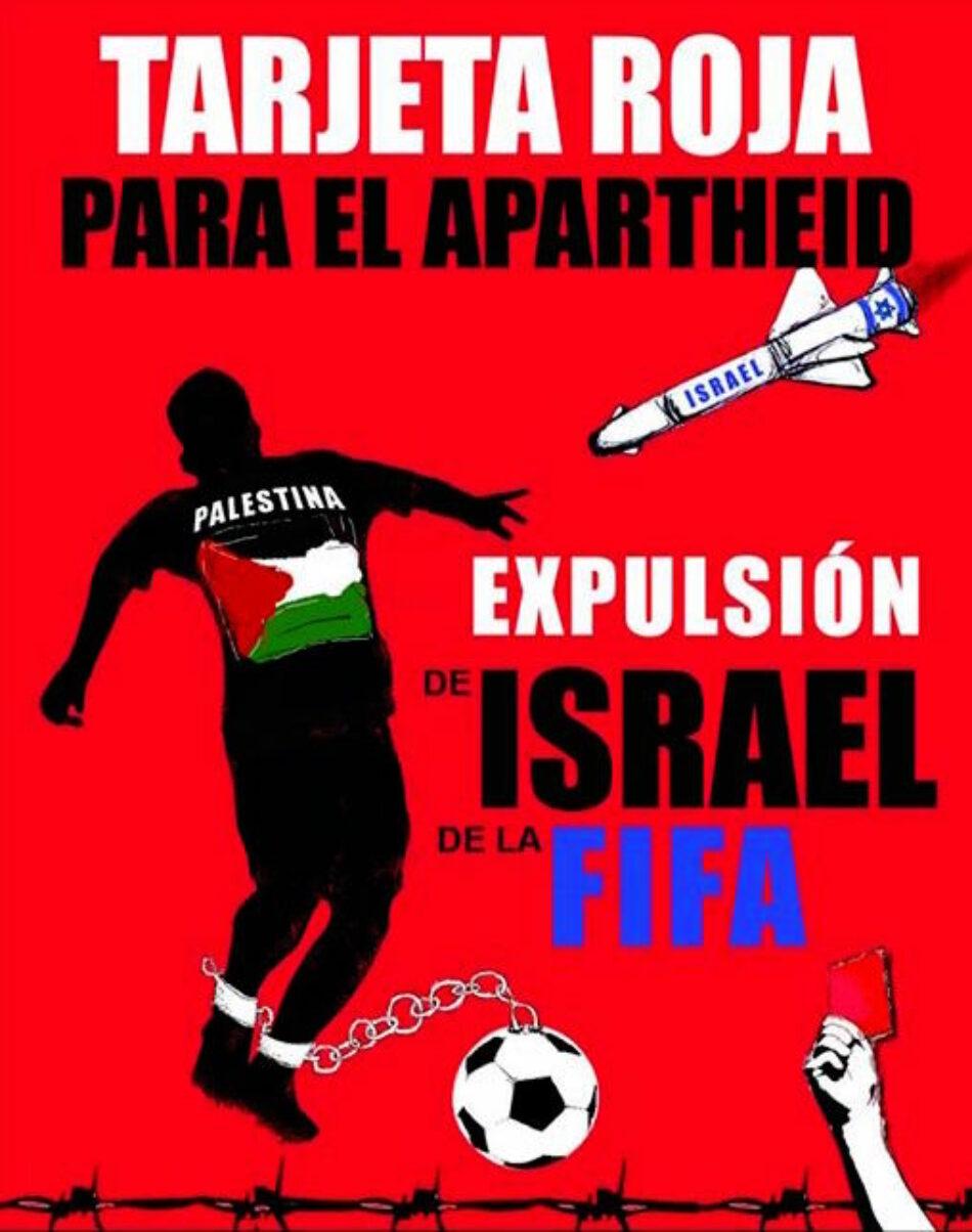 IU pide a la UE que recomiende a FIFA y UEFA no permitir la participación de Israel en sus competiciones