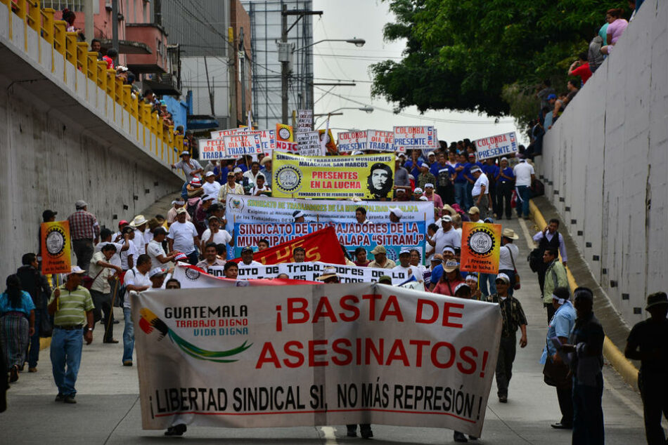 En Guatemala se siguen violentando derechos laborales y sindicales