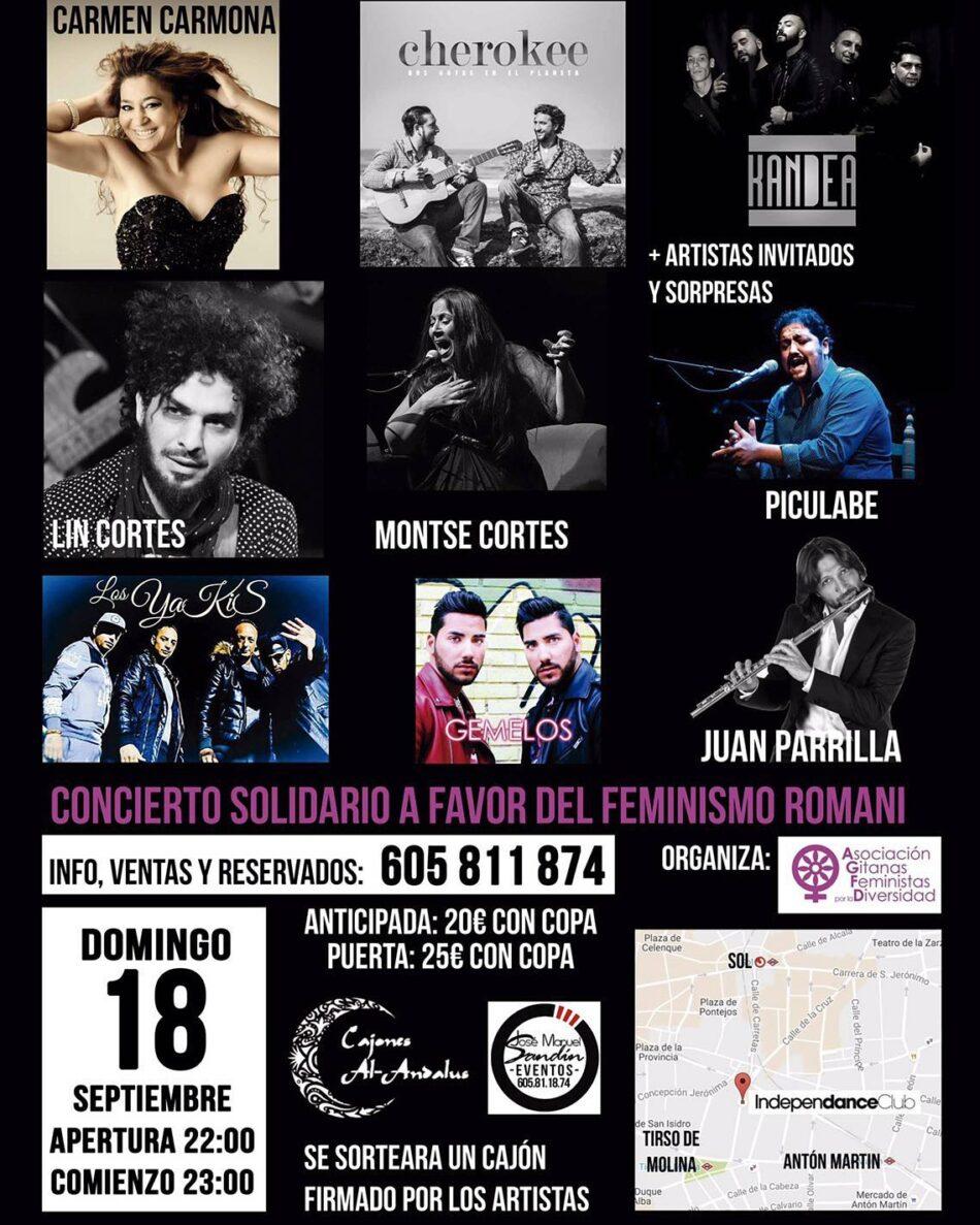 Organizan concierto solidario a favor del feminismo romaní