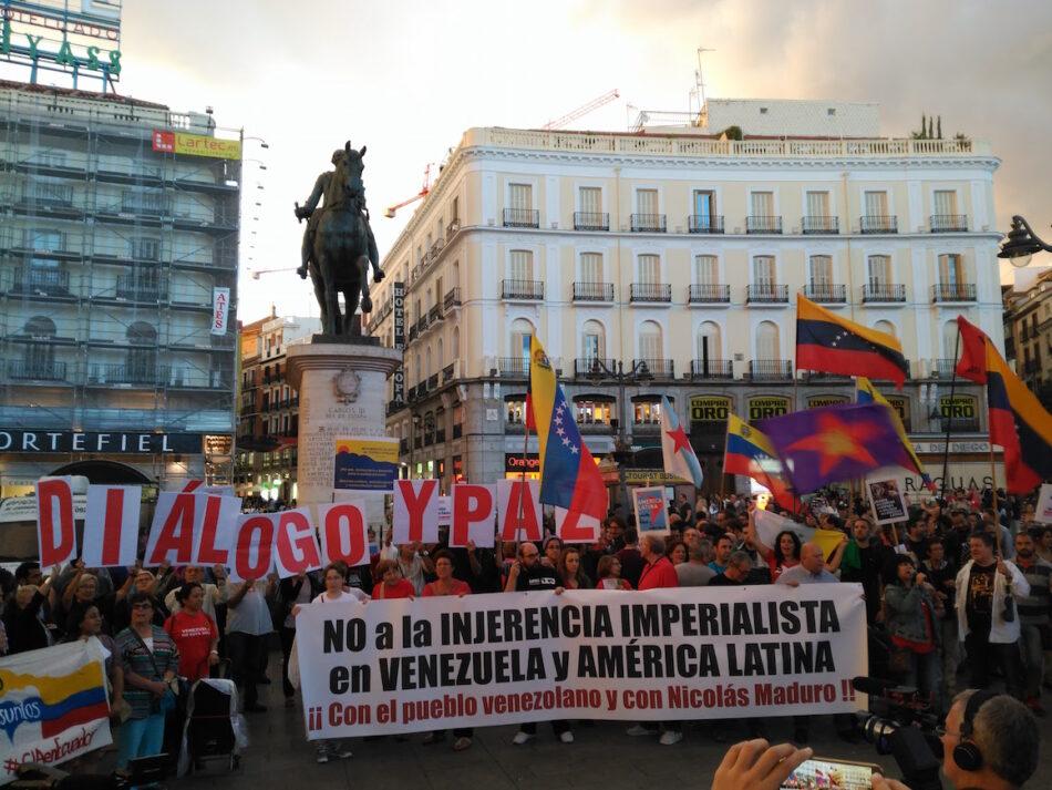 Se manifestaron en Madrid en apoyo a la Revolución Bolivariana  y a la Cumbre de MNOAL