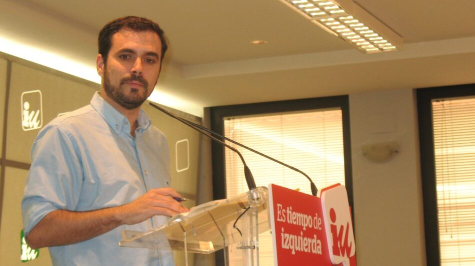 """Garzón adelanta que la dirección de IU ultima distintos planes de trabajo para perfilar en unos días """"nuestra estrategia política para el próximo año"""""""