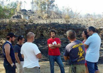 David Rodríguez visita as zonas de Ourense máis afectadas polos incendios dos últimos días
