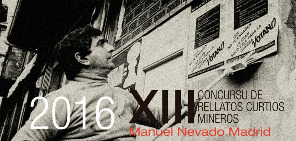 Convocan XIII Concurso de relatos Mineros Manuel Nevado Madrid (2016)