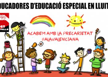 Hui es concentraran les educadores d'educació especial per a protestar contra la precarietat
