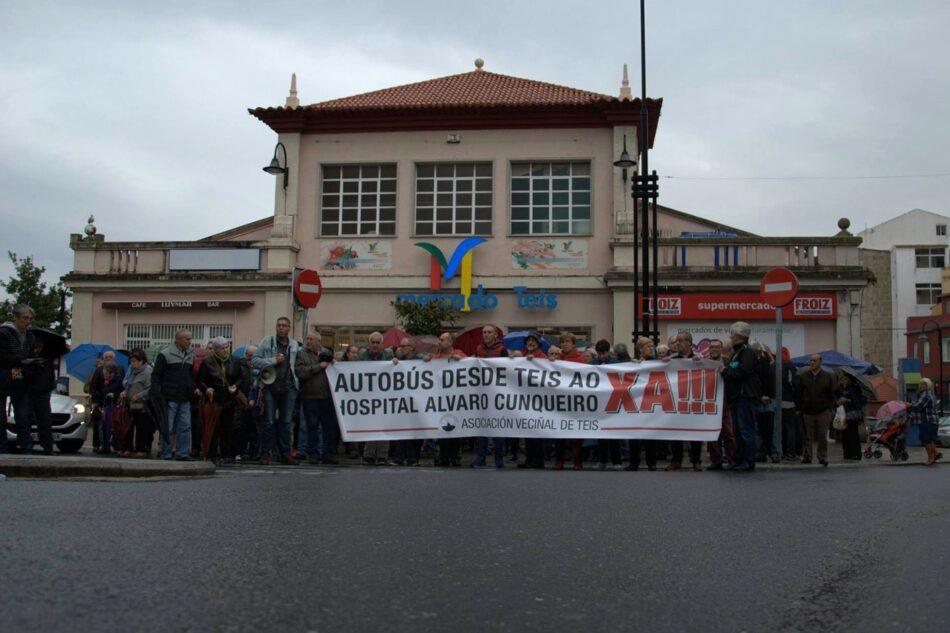 As e os veciños de Teis levarán ao pleno do Concello a súa reivindicación dun autobús directo ao Álvaro Cunqueiro.