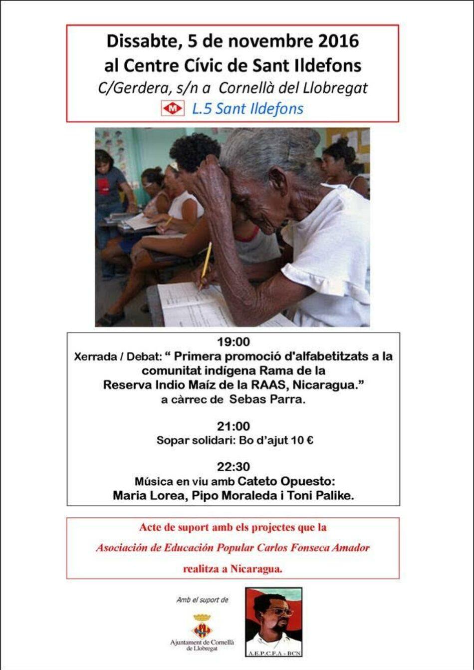 Acte per Nicaragua a Cornellà de Llobregat