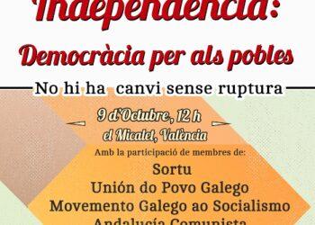 Poble Lliure organitza un acte internacionalista amb organitzacions basques, gallegues, andaluses i castellanes amb motiu de la Diada del País Valencià
