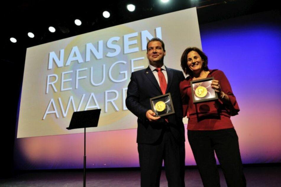 Los voluntarios griegos son homenajeados en la ceremonia del Premio Nansen para los Refugiados 2016