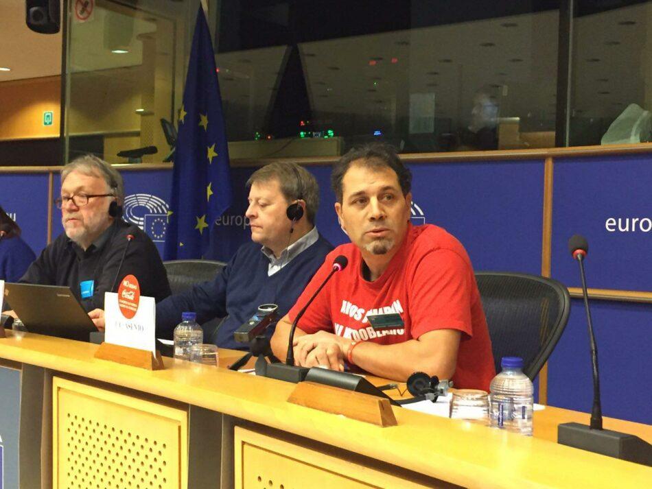 IU traslada la lucha de los trabajadores de Coca-Cola al Parlamento Europeo