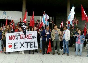 En Marea fai un chamamento á cidadanía a participar esta tarde na mobilización en apoio aos traballadoras e traballadores de Extel para evitar 205 despedimentos