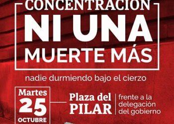 Concentración Sin Techo en Zaragoza: «ni una muerte más en nuestras calles»