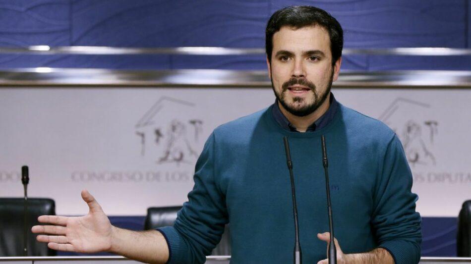 Alberto Garzón: «Era y es una lucha de poder, burocrática, no ideológica. El proyecto político de Sánchez y Susana es el mismo.»