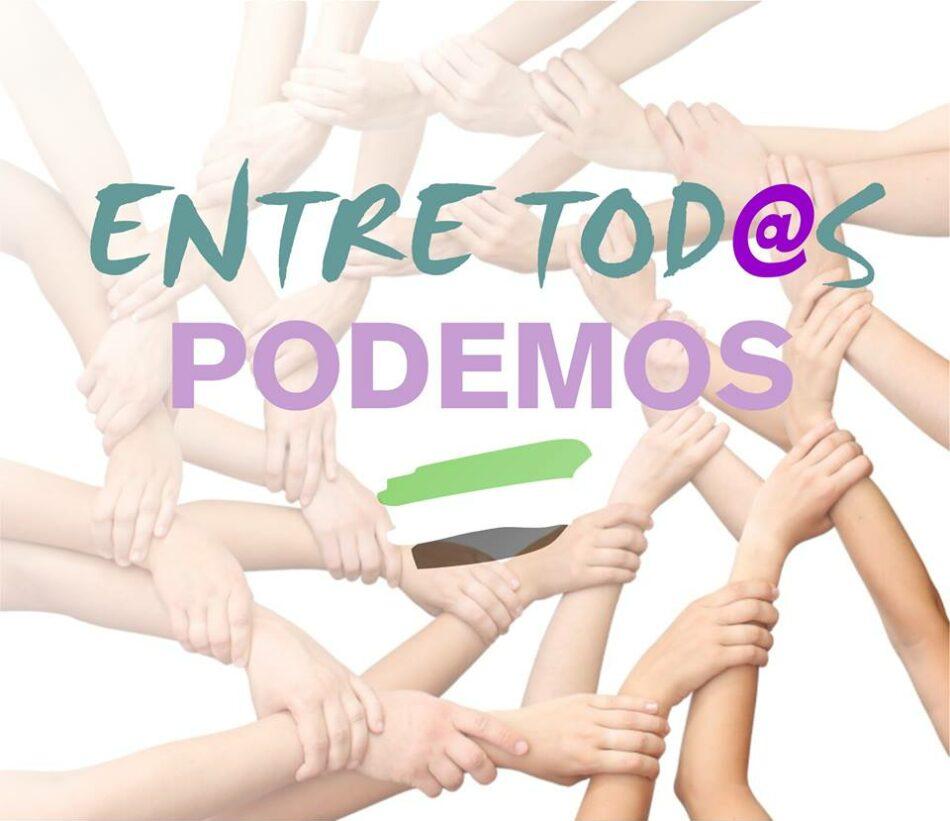 Surge en Podemos Extremadura un tercer espacio: «Entre tod@s Podemos»