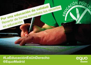 EQUO apoya la huelga general educativa y reclama la derogación de la LOMCE