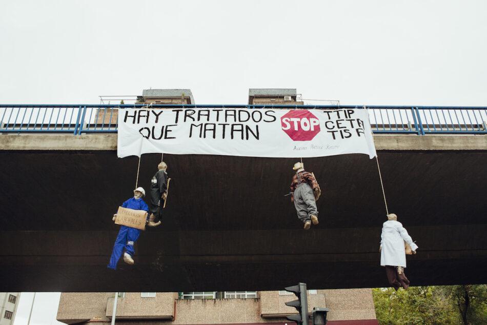Acción contra la firma del CETA y contra el TTIP y TISA