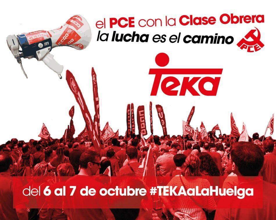 El PCE en Aragón se solidariza con la plantilla de Teka