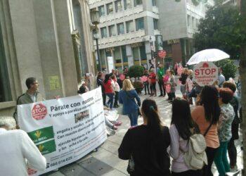 Stop Desahucios reclama a la entidad bancaria Caja Rural el cumplimiento del código de buenas prácticas