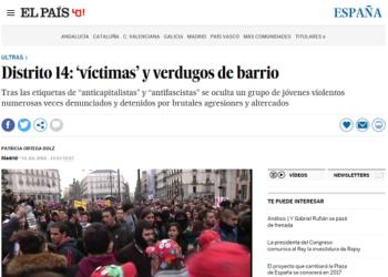 'El País' condenado a rectificar una información tras la demanda del colectivo Distrito 14