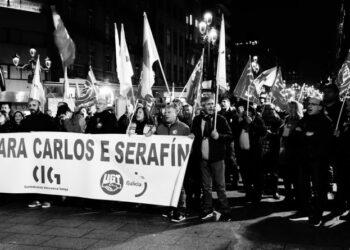 As veciñas e veciños de Vigo non abandonan a loita: «Carlos, Serafín ¡Indulto xa!»
