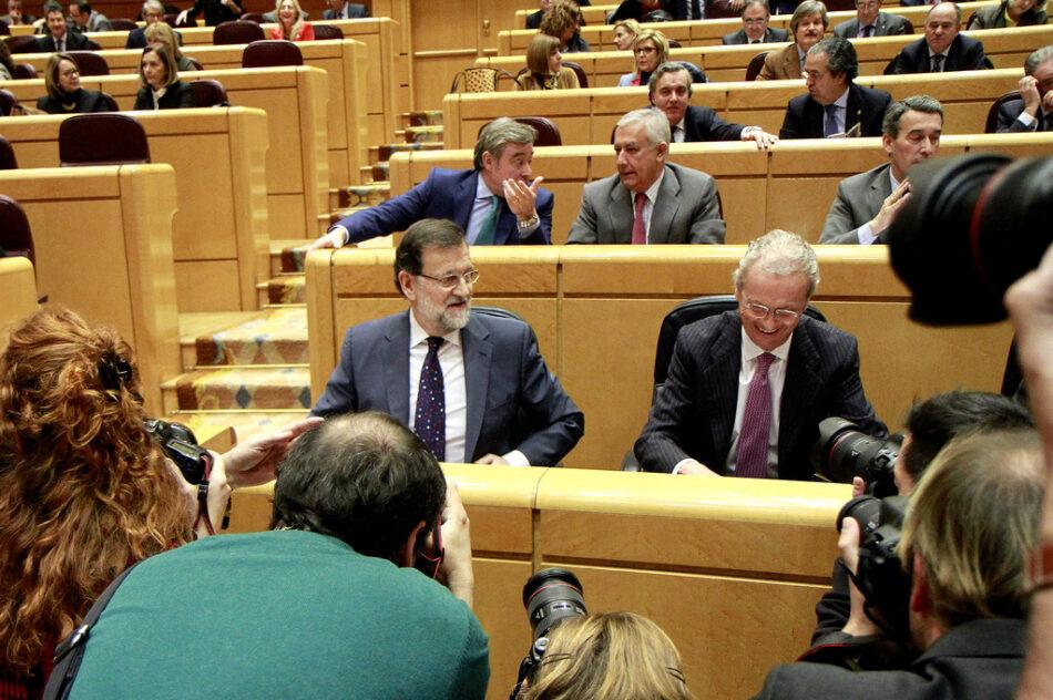 En Comú Podem sol·licita la compareixença de Rajoy a la Mesa del Senat