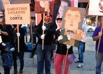 Organizaciones sociales del estado español y la UE se manifestaron el 4 y 5 de noviembre contra el CETA