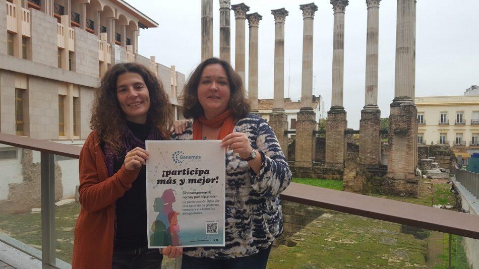 Ganemos Córdoba  apuesta por una participación directa y vinculante