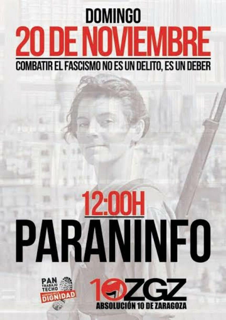 Se presenta en Valencia la Campaña por la Absolución de 10 jóvenes antifascistas de Zaragoza