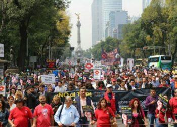 México: Movilización de trabajadores de la UNAM