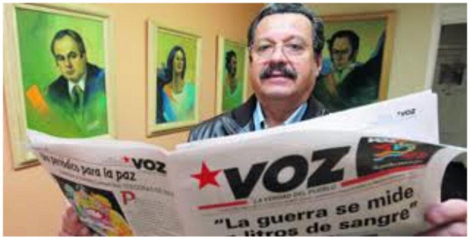 Carlos Lozano Guillén (Partido Comunista Colombiano): S.O.S la paz en peligro