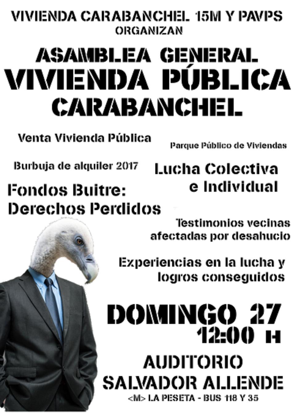 Asamblea General sobre la Vivienda Pública en Carabanchel
