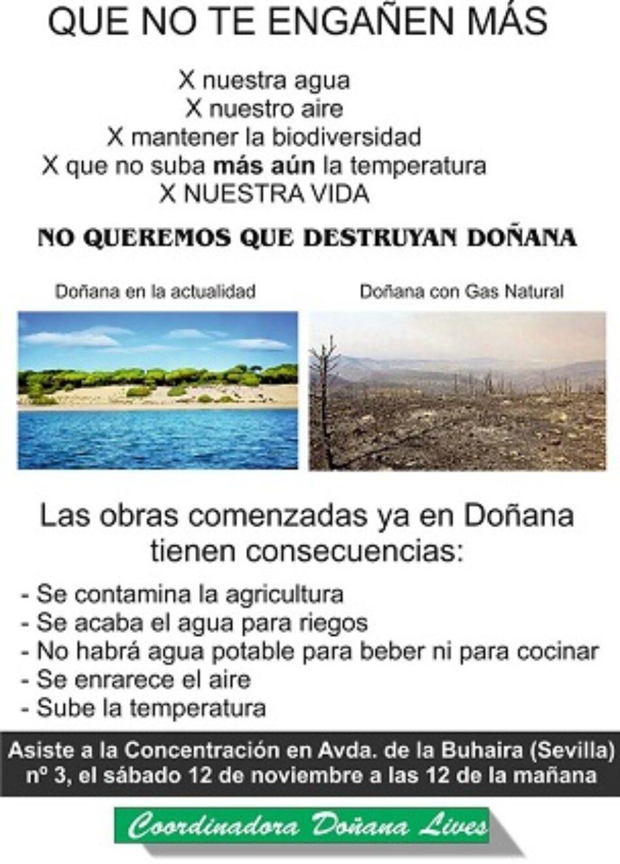 Apoyan la acción de la Coordinadora Doñana Lives