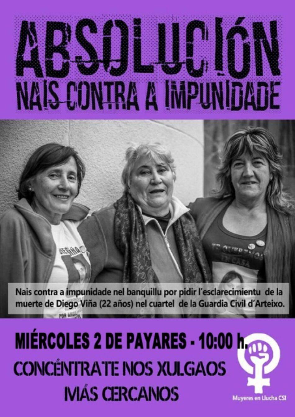 Concentración miércoles 2 de noviembre nais contra a impunidade absolución